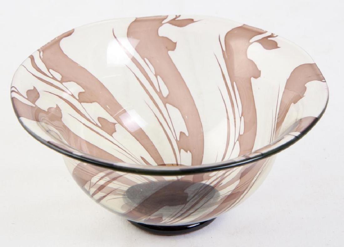 ORREFORS S.GRAAL BOWL SIGNED EDWARD HALD Swirled bowl - 4