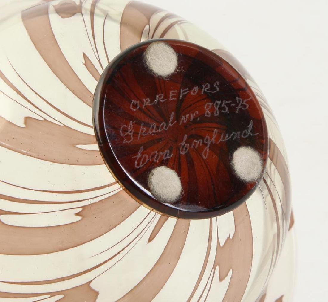 ORREFORS S.GRAAL BOWL SIGNED EDWARD HALD Swirled bowl - 6