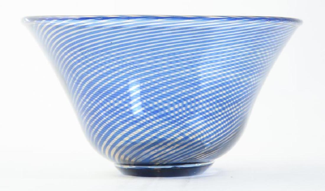 ORREFORS S.GRAAL BOWL SIGNED EDWARD HALD Swirled bowl - 5