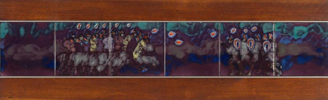 HARRIS STRONG (1920-2006) (6) Tiles depict medieval