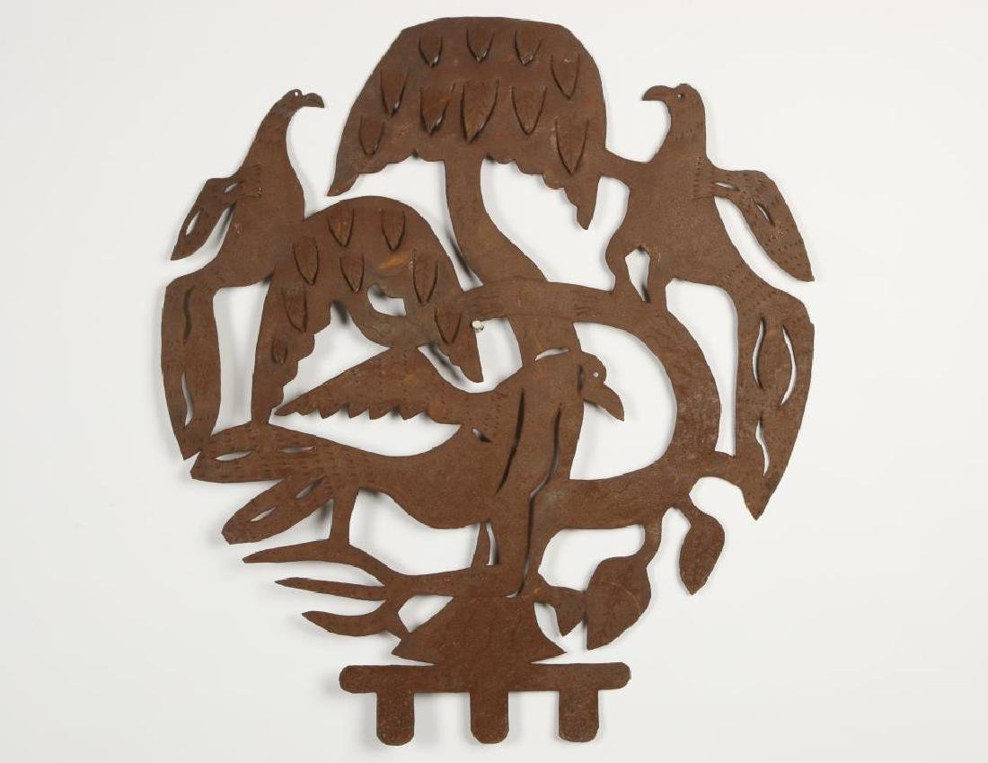 "EUROPEAN SCHOOL (20th c) Sculpture ""3 Birds in a Tree"""