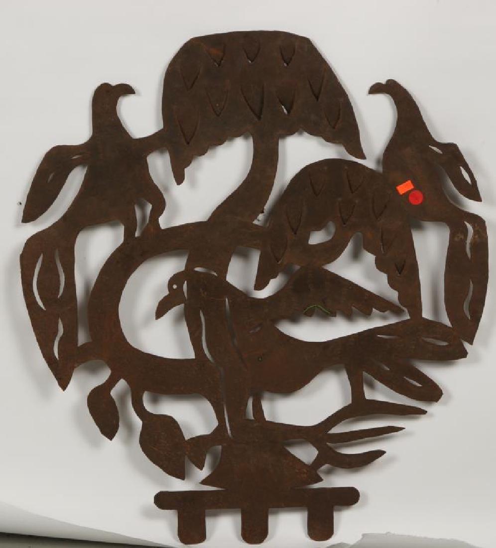 "EUROPEAN SCHOOL (20th c) Sculpture ""3 Birds in a Tree"" - 2"