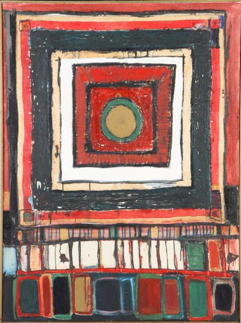 "JOHN MURRAY (20th c) ""Athens"" oil on canvas 48 x 36"