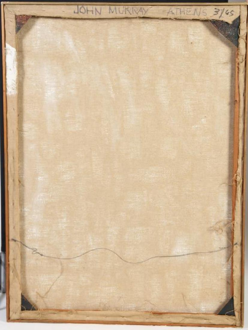 "JOHN MURRAY (20th c) ""Athens"" oil on canvas 48 x 36 - 2"