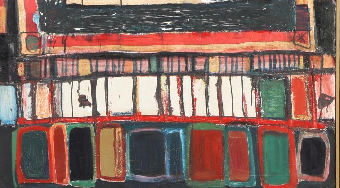 "JOHN MURRAY (20th c) ""Athens"" oil on canvas 48 x 36 - 3"