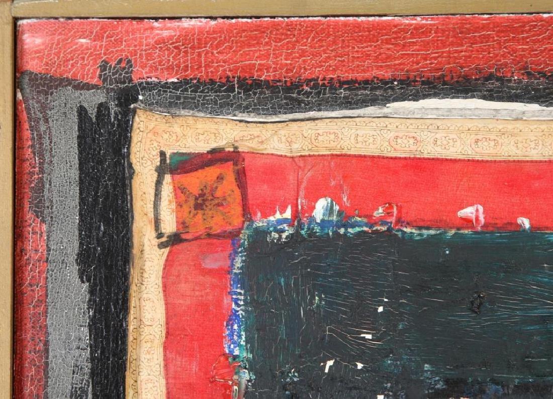 "JOHN MURRAY (20th c) ""Athens"" oil on canvas 48 x 36 - 5"