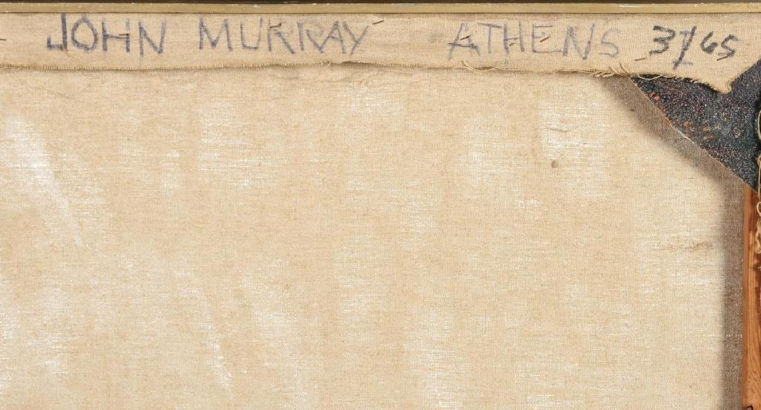 "JOHN MURRAY (20th c) ""Athens"" oil on canvas 48 x 36 - 7"