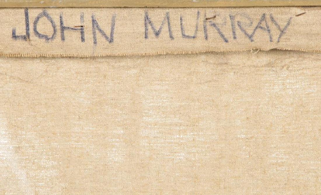 "JOHN MURRAY (20th c) ""Athens"" oil on canvas 48 x 36 - 8"