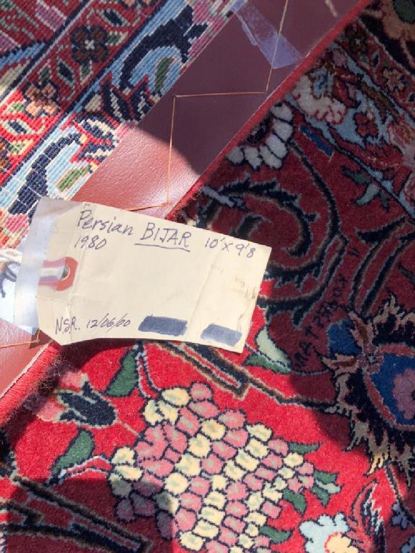 """ROOM SIZE PERSIAN BIJAR ORIENTAL RUG 10' x 9' 8"""". - 8"""