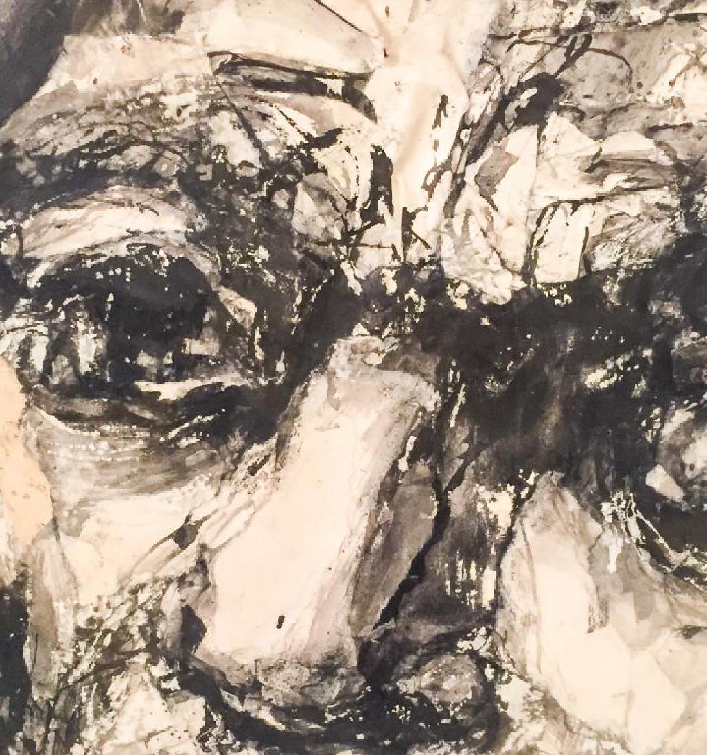 """MICHAEL RUSSO (20th c) """"Portrait"""" collage. 23 x 19 1/2 - 3"""