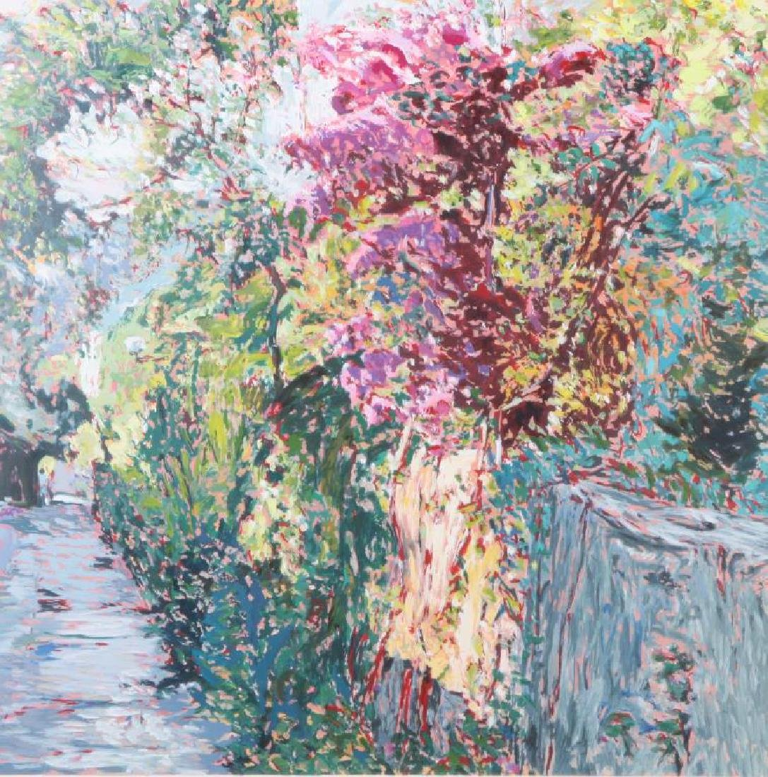 "MARCO SASSONE (b. 1942) ""Lush Garden Path"" serigraph 28"