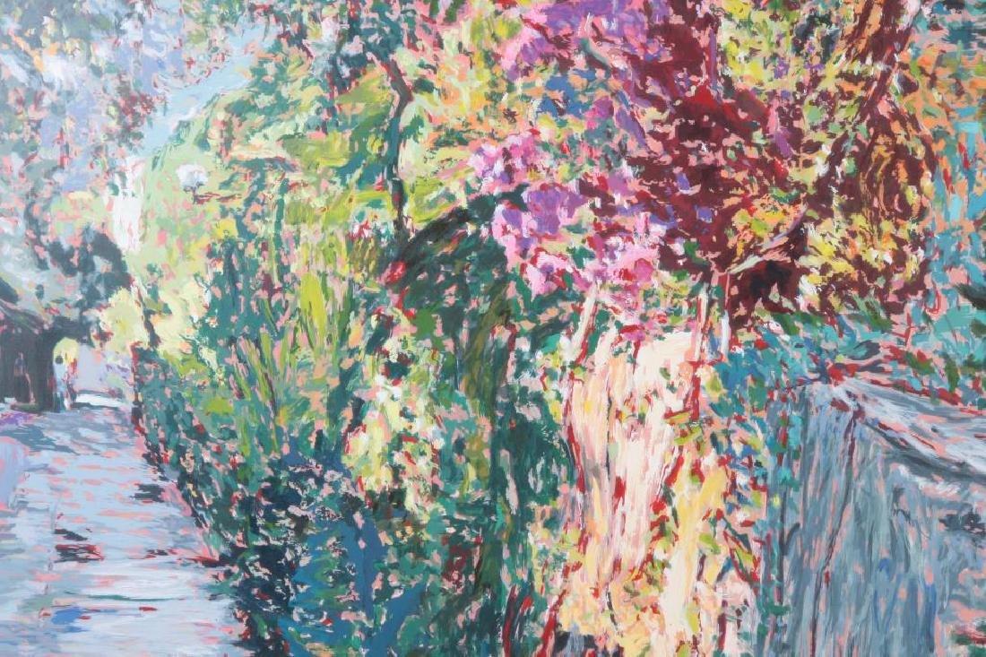 "MARCO SASSONE (b. 1942) ""Lush Garden Path"" serigraph 28 - 3"