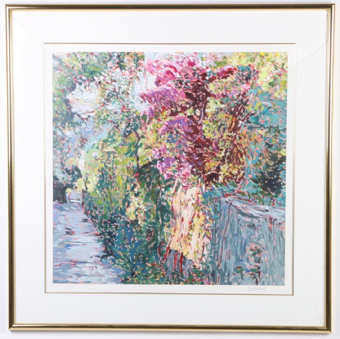 "MARCO SASSONE (b. 1942) ""Lush Garden Path"" serigraph 28 - 4"