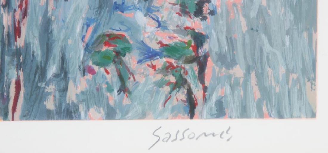 "MARCO SASSONE (b. 1942) ""Lush Garden Path"" serigraph 28 - 5"
