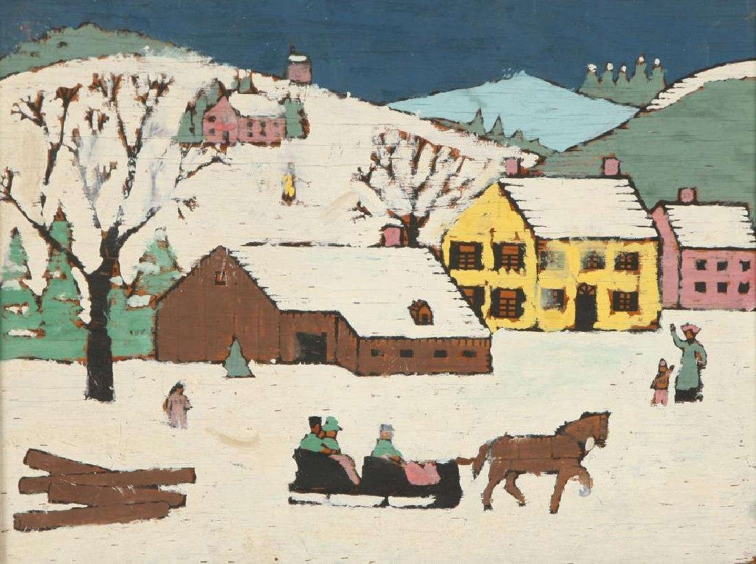 AMERICAN SCHOOL (20th c) Pair of Naive Landscapes - 2