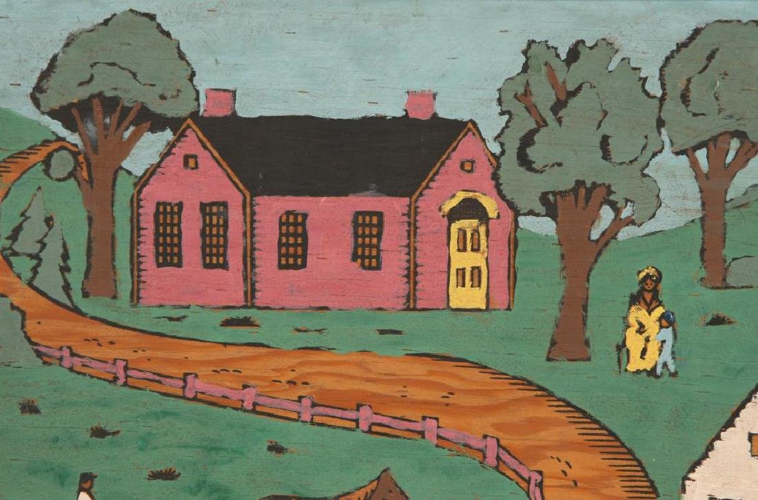 AMERICAN SCHOOL (20th c) Pair of Naive Landscapes - 5
