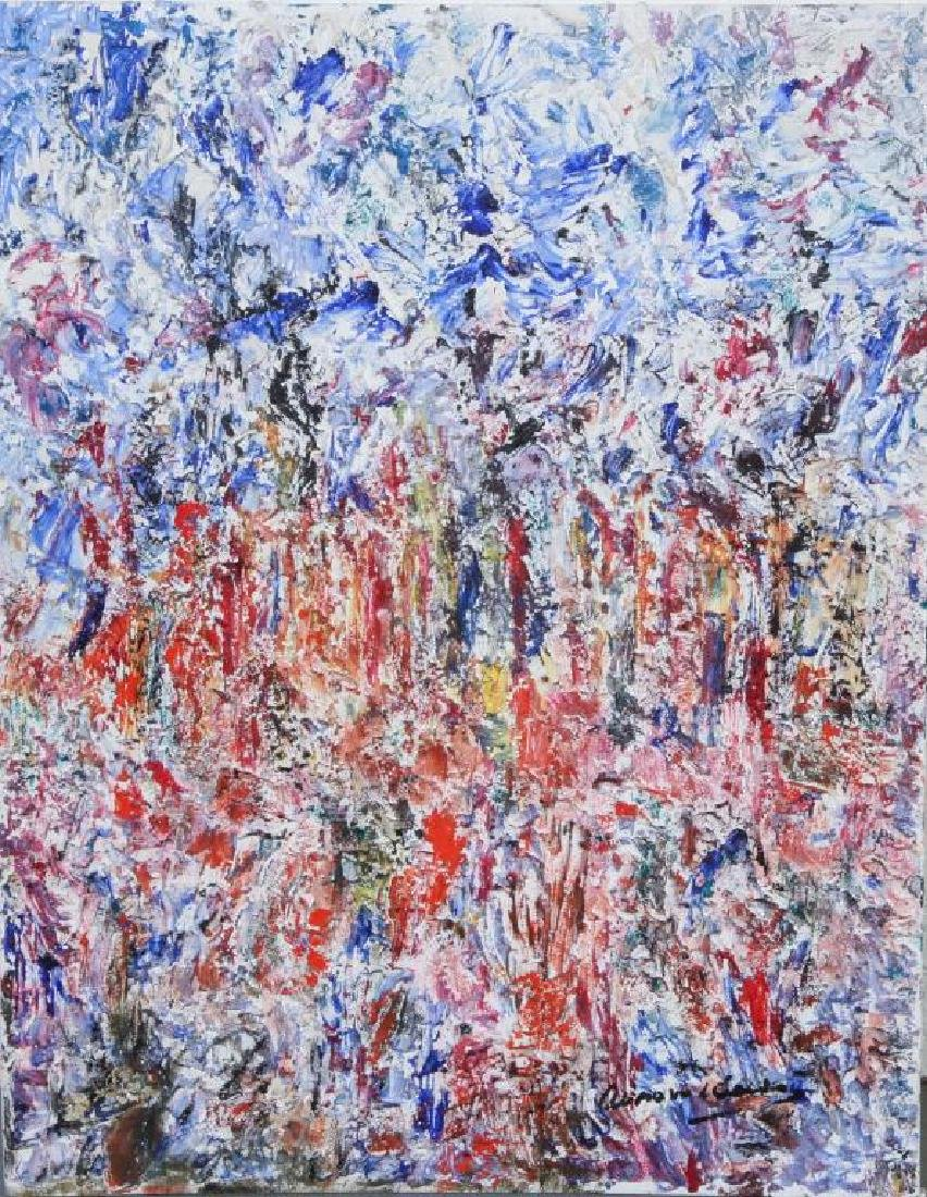 """AMERICAN SCHOOL (20th c) Abstraction """"Colorful"""
