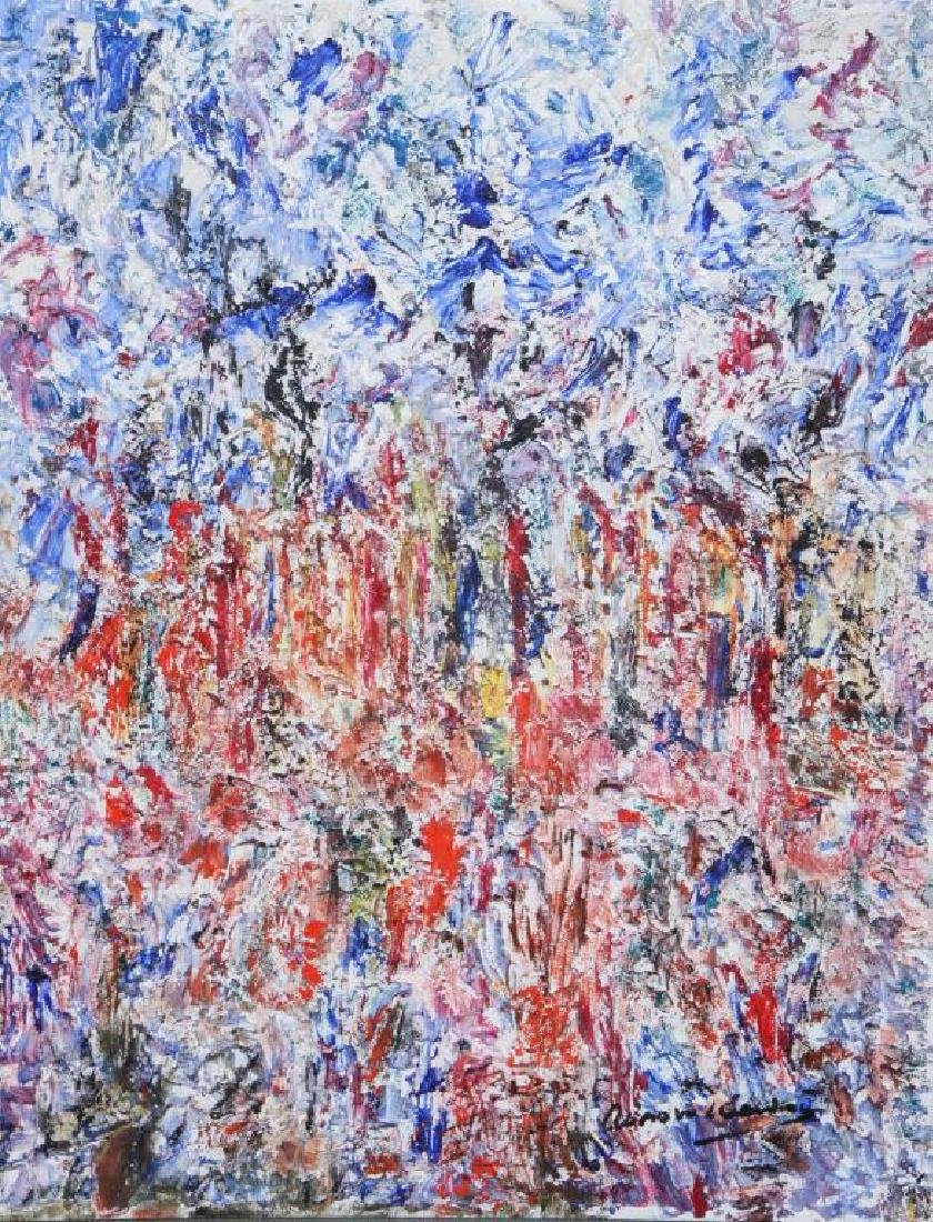 "AMERICAN SCHOOL (20th c) Abstraction ""Colorful - 4"