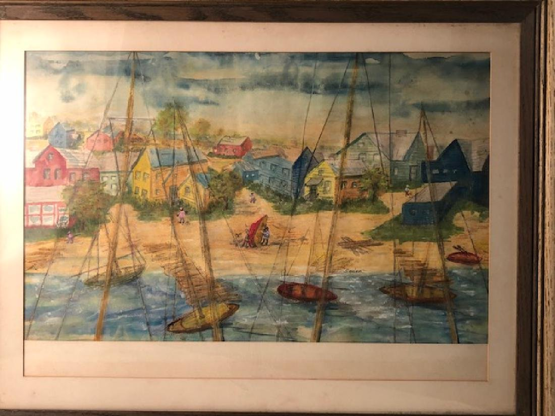 MID-CENTURY WATERCOLOR ON PAPER