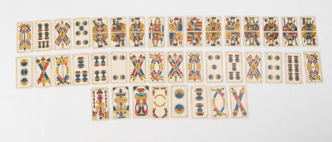 (19th c) ITALIAN PLAYING CARDS