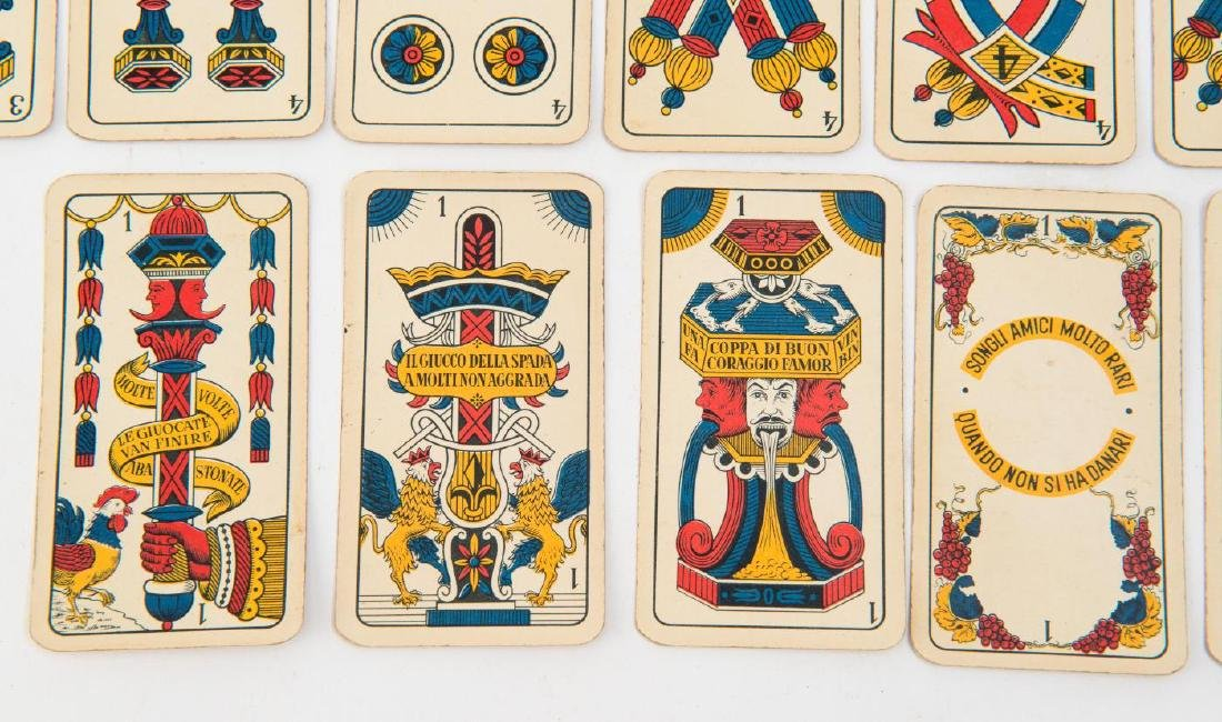 (19th c) ITALIAN PLAYING CARDS - 2