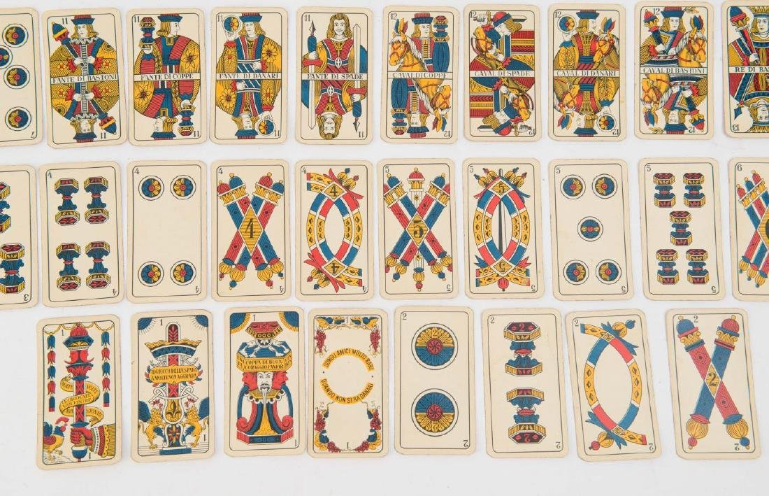 (19th c) ITALIAN PLAYING CARDS - 6
