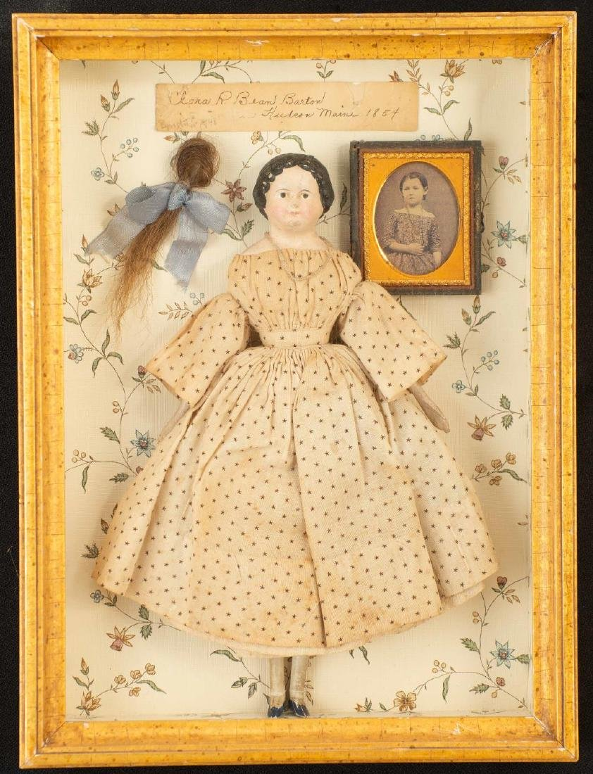 SHADOWBOX WITH GIRL'S PHOTO AND DOLL