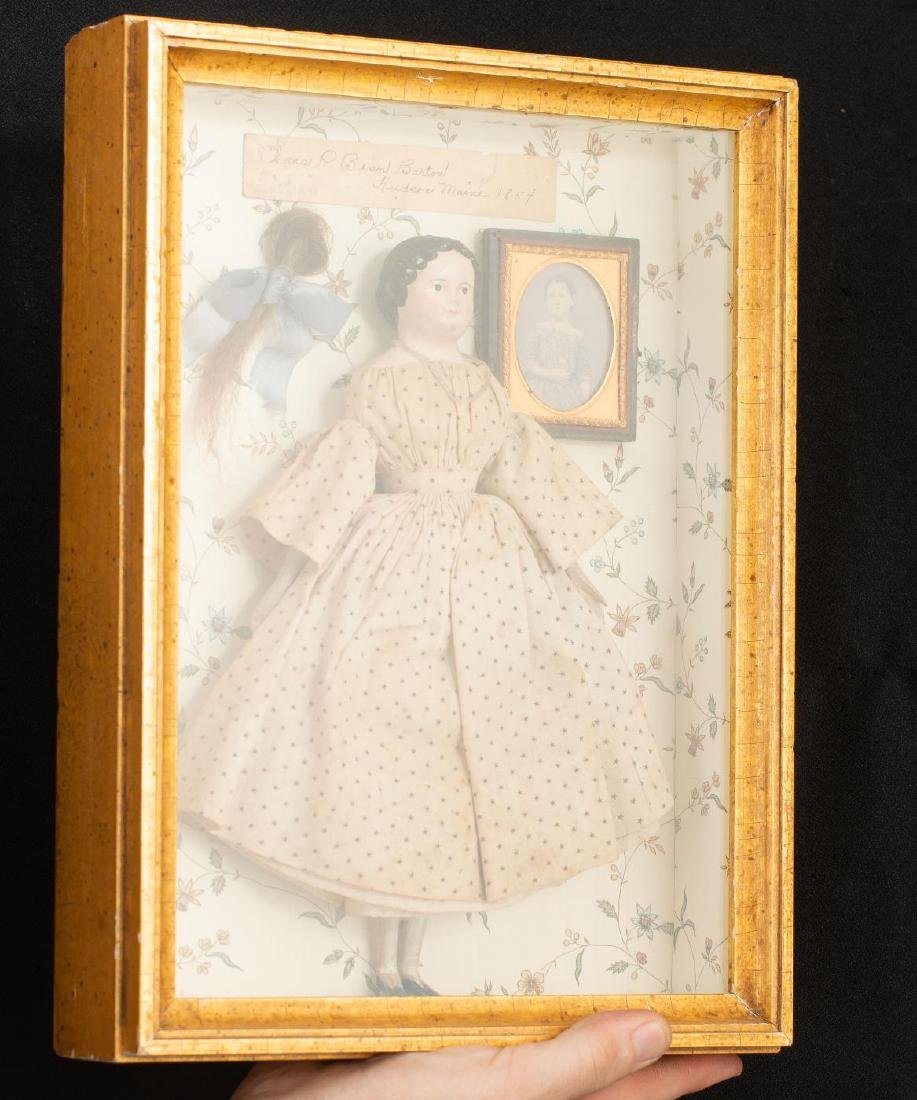 SHADOWBOX WITH GIRL'S PHOTO AND DOLL - 3