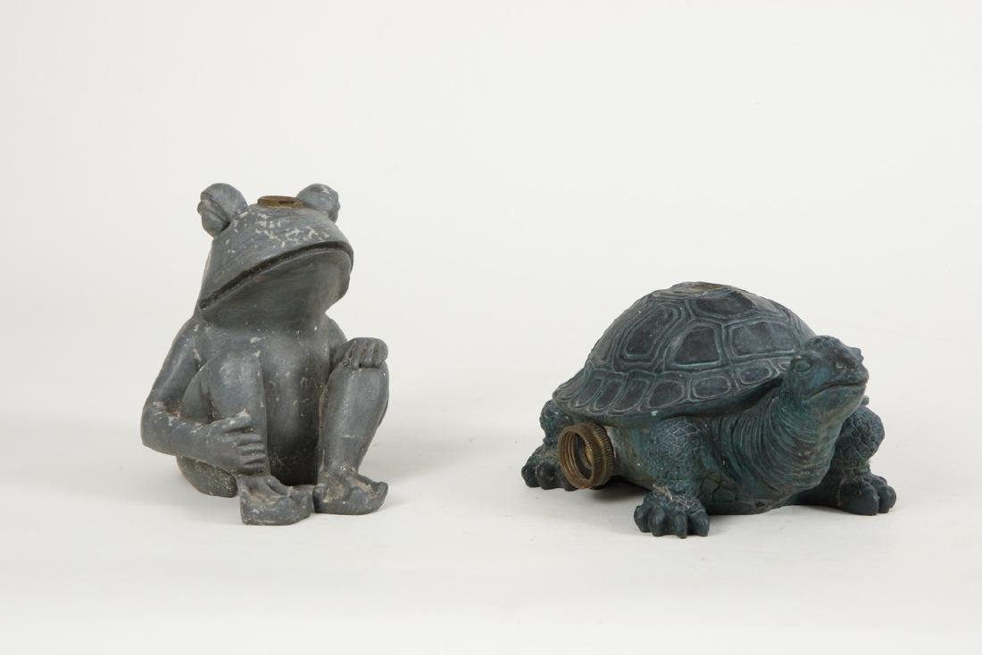 COMPOSITE FROG AND TURTLE LAWN SPRINKLERS