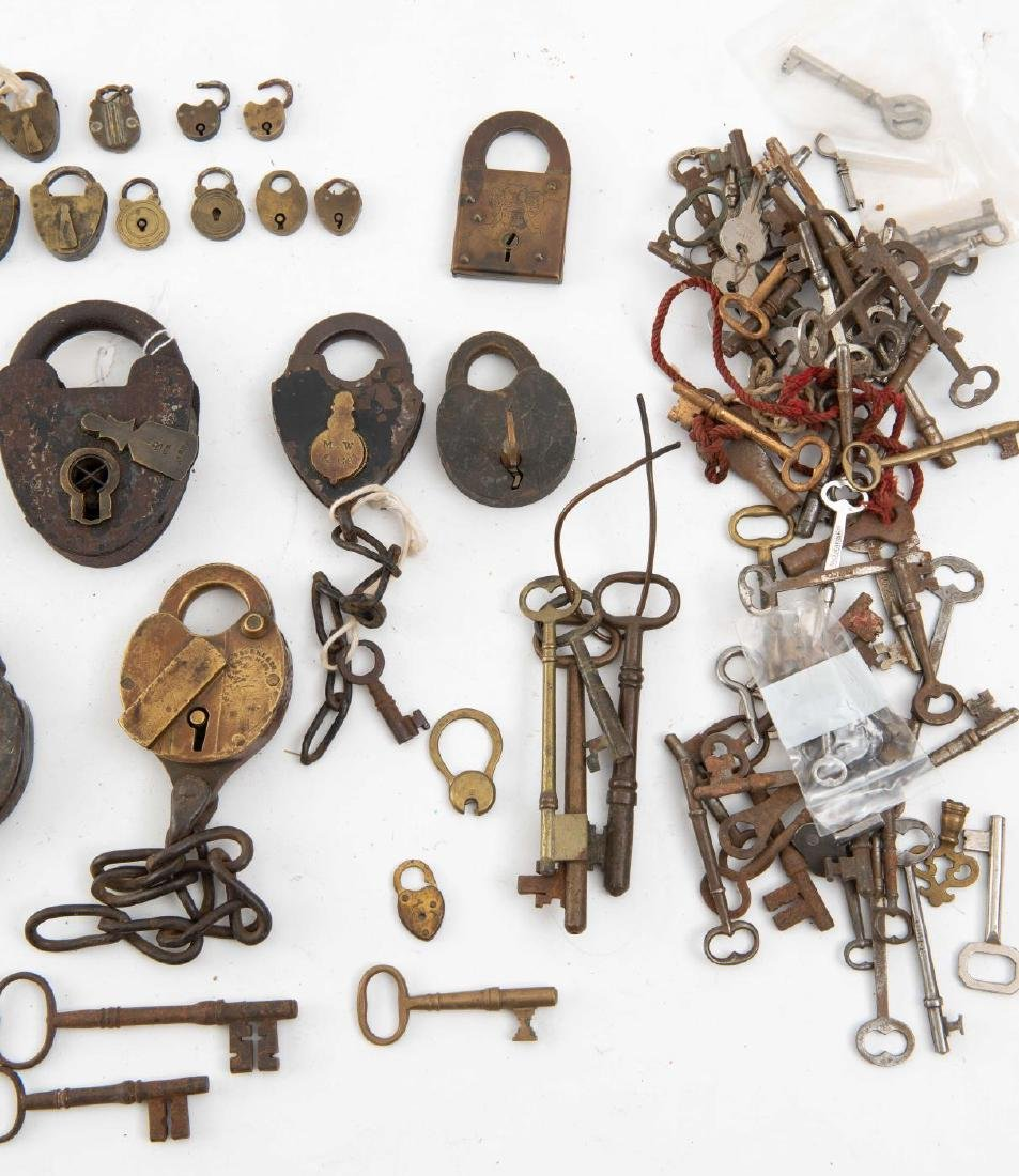 LARGE COLLECTION OF PADLOCKS & KEYS - 2