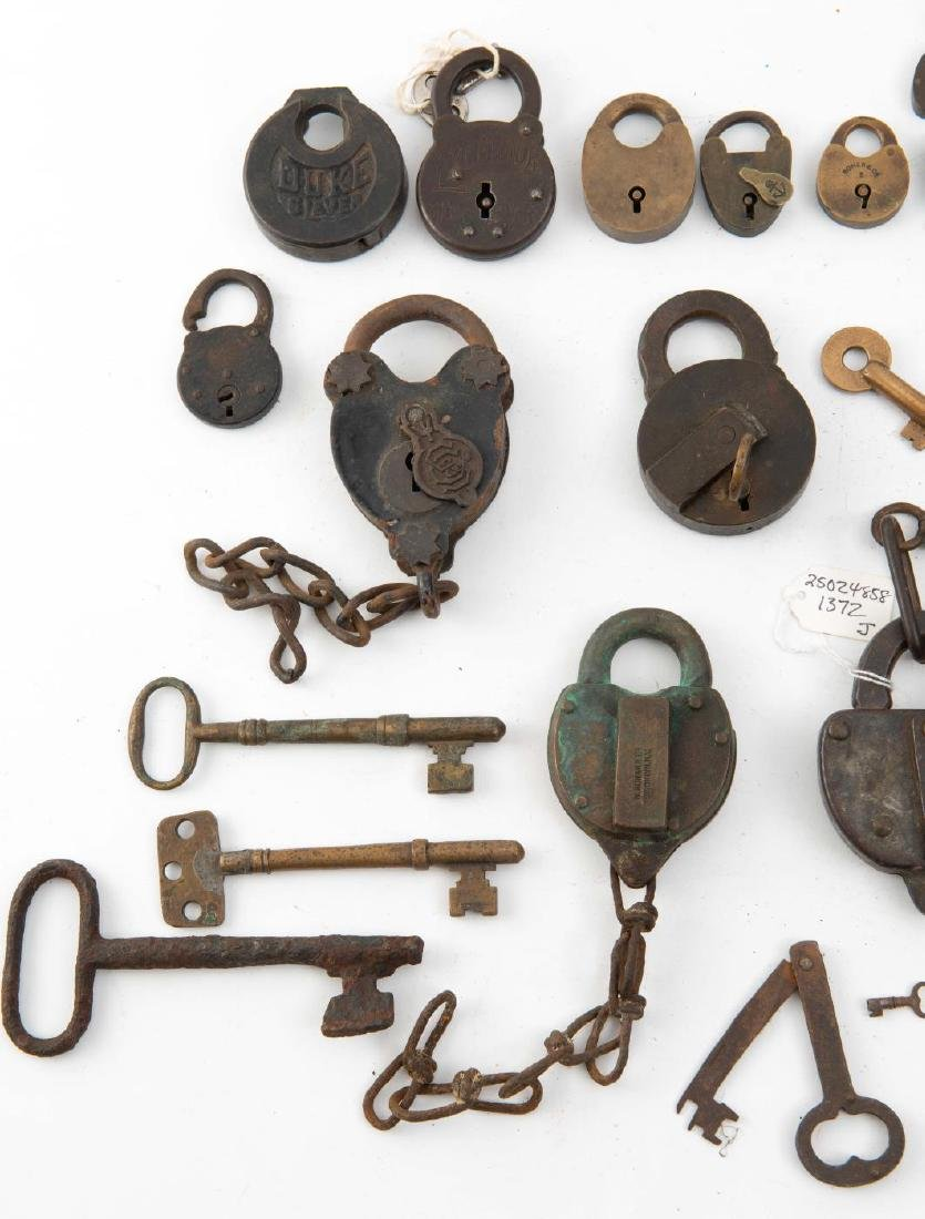 LARGE COLLECTION OF PADLOCKS & KEYS - 4