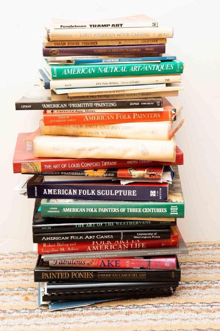 LOT OF BOOKS - FOLK ART