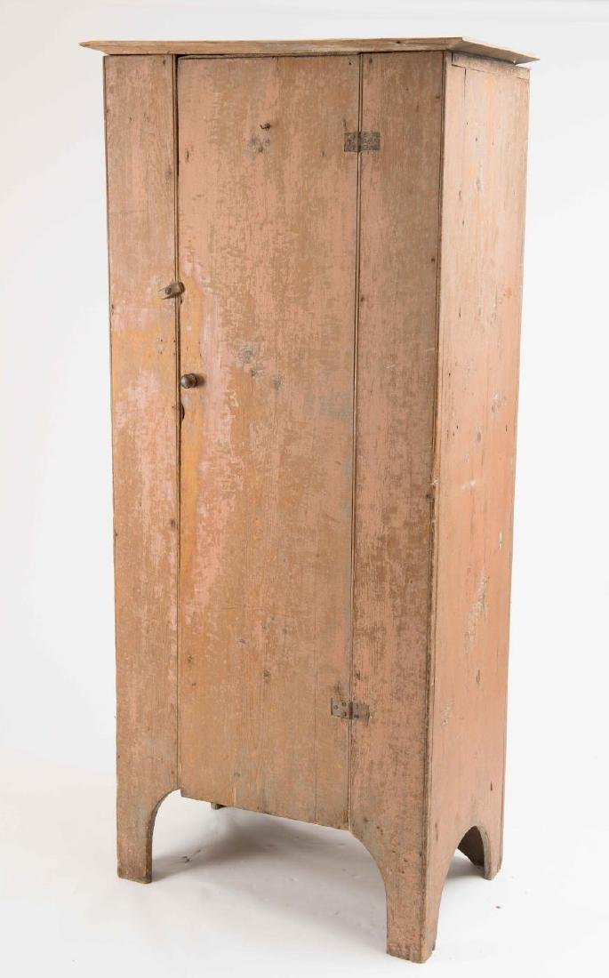 EARLY 19TH C. ONE DOOR CUPBOARD IN OLD PAINT
