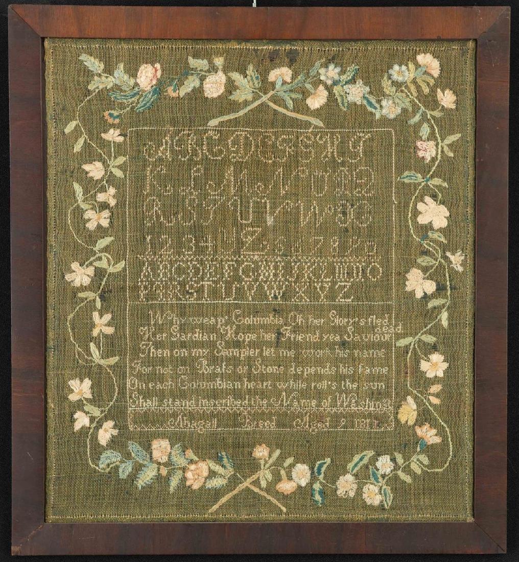 NEEDLEWORK SAMPLER ABAGAIL BREED 1811