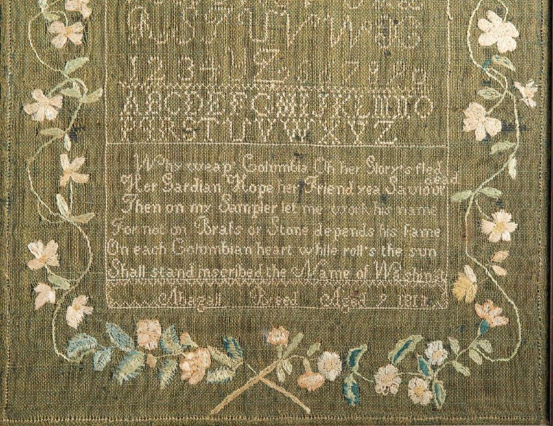NEEDLEWORK SAMPLER ABAGAIL BREED 1811 - 2