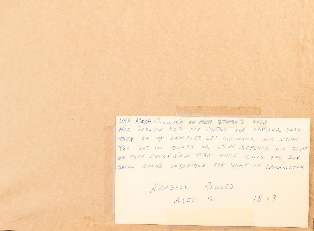 NEEDLEWORK SAMPLER ABAGAIL BREED 1811 - 3