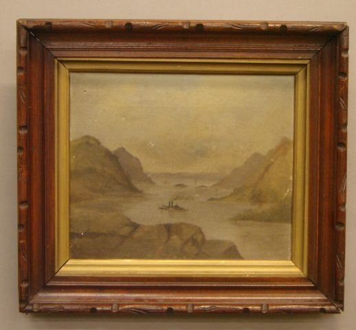 7: American School (19th century) Hudson River with ste
