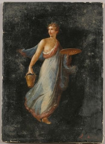 "8: European School (19th century) ""Allegorical Beauty"""