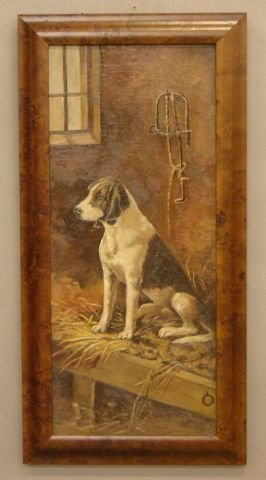 23: American school (early 20th century) Dog in Stable,