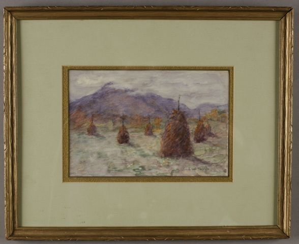 "24: Sarah W. Talcott, American (1852-1936) ""Hay Stacks"""