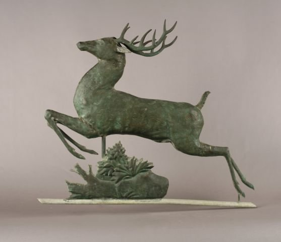 250: Leaping stag weather vane, probably Harris & Co.
