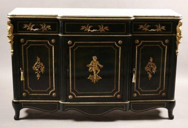 258: 19th century Credensor signed Limoine, Paris