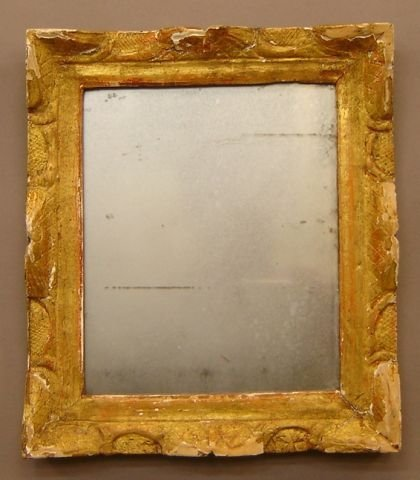 267: Carved and guilded mirror