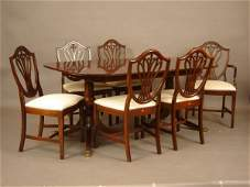 497 Mahogany hepplewhite style dining room set with ba