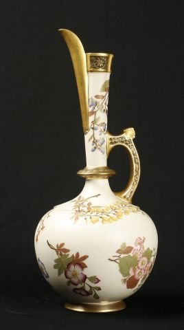873: Royal Worcester porcelain persian style ewer