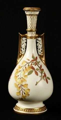 943 Royal Worcester Vase Persian Influenced Form With