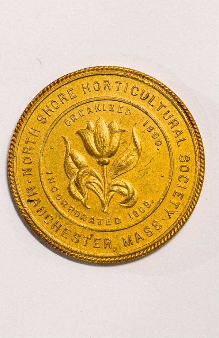 14K GOLD NORTH SHORE HORTICULTURAL SOCIETY MEDAL