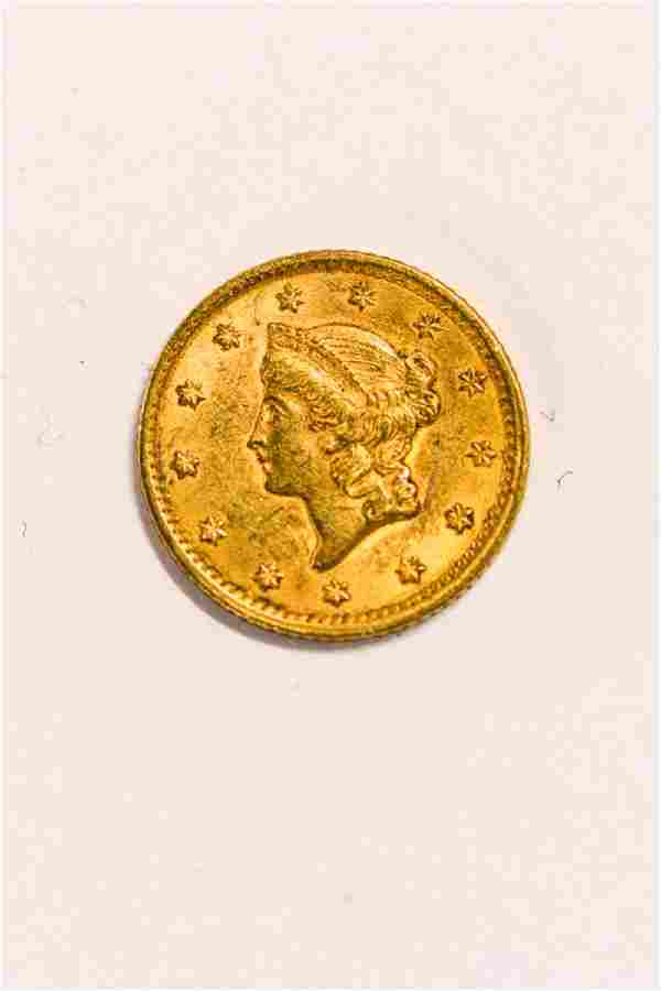 1852 UNITED STATES LIBERTY HEAD GOLD DOLLAR