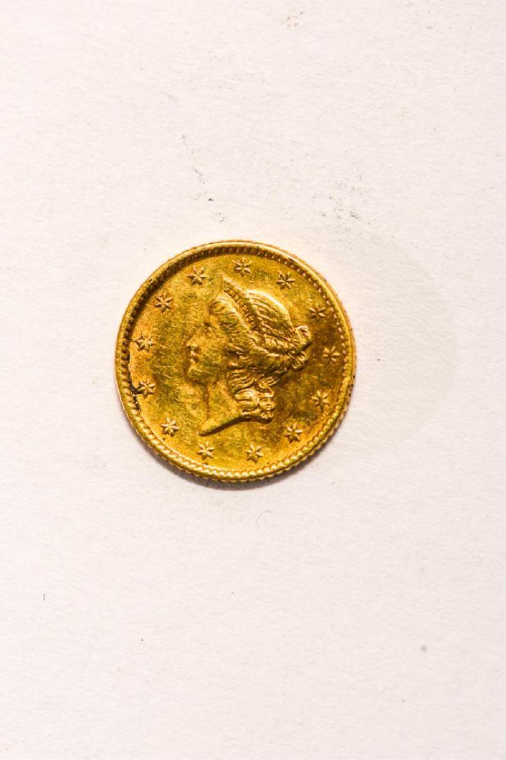 1853 UNITED STATES LIBERTY HEAD GOLD DOLLAR