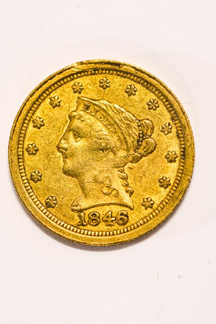 1846-O UNITED STATES LIBERTY HEAD GOLD $2 1/2